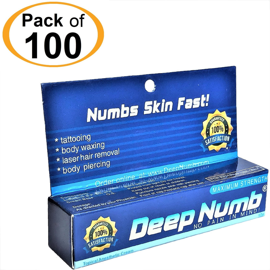 100 Tubes x 10g DEEP NUMB® Topical Numbing Cream