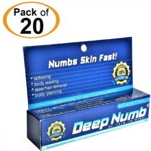 20 Tubes x 10g DEEP NUMB® Topical Numbing Cream