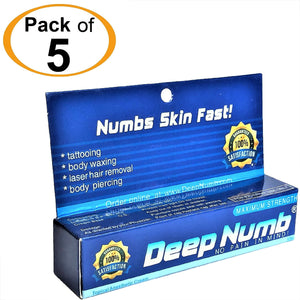 5 Tubes x 10g DEEP NUMB® Topical Numbing Cream