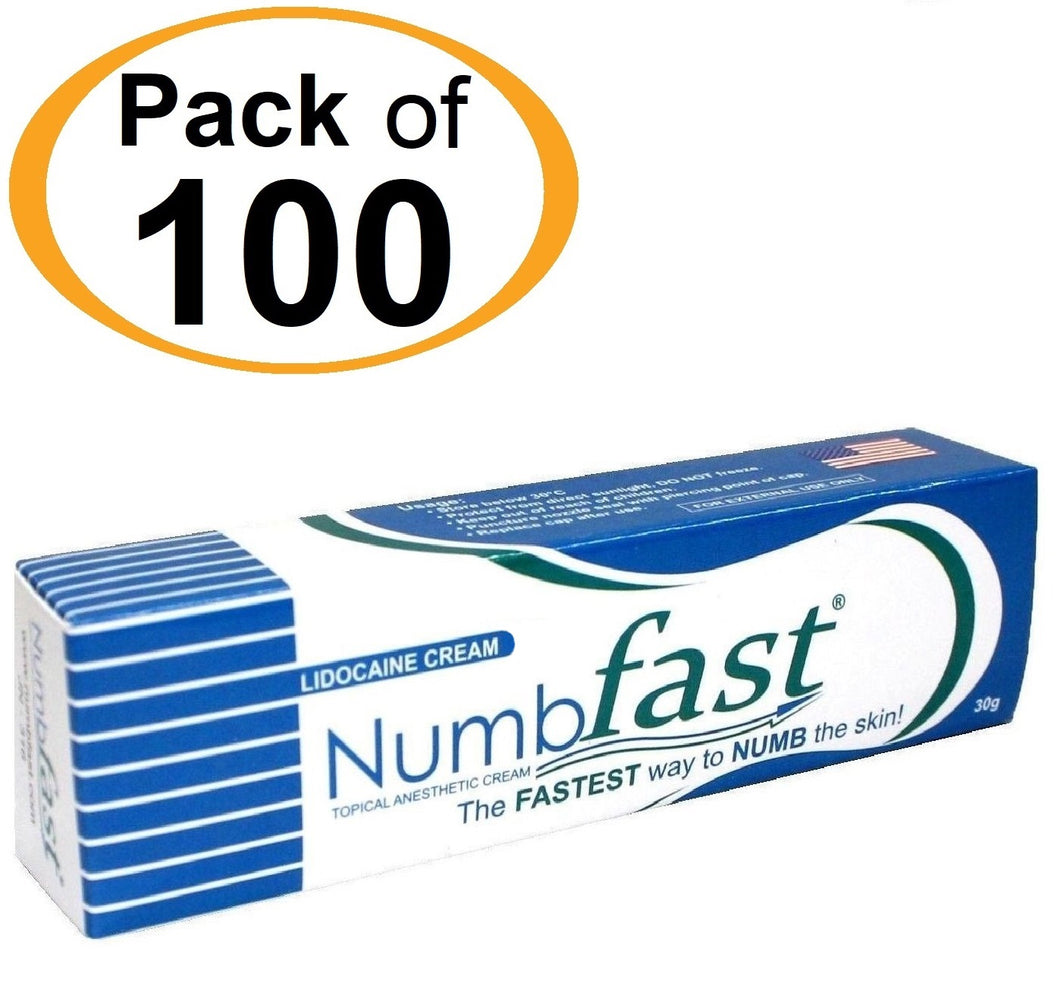 100 Tubes x 30g NUMB FAST® Topical Numbing Cream