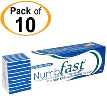 10 Tubes x 30g NUMB FAST® Topical Numbing Cream