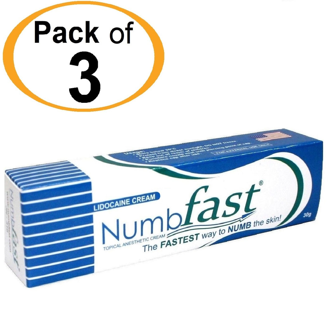 3 Tubes x 30g NUMB FAST® Topical Numbing Cream