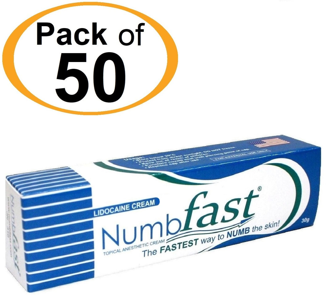 50 Tubes x 30g NUMB FAST® Topical Numbing Cream