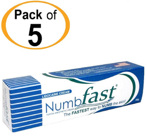 5 Tubes x 30g NUMB FAST® Topical Numbing Cream