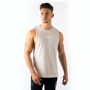 Totum Performance Cut Off Tank - Stone Grey