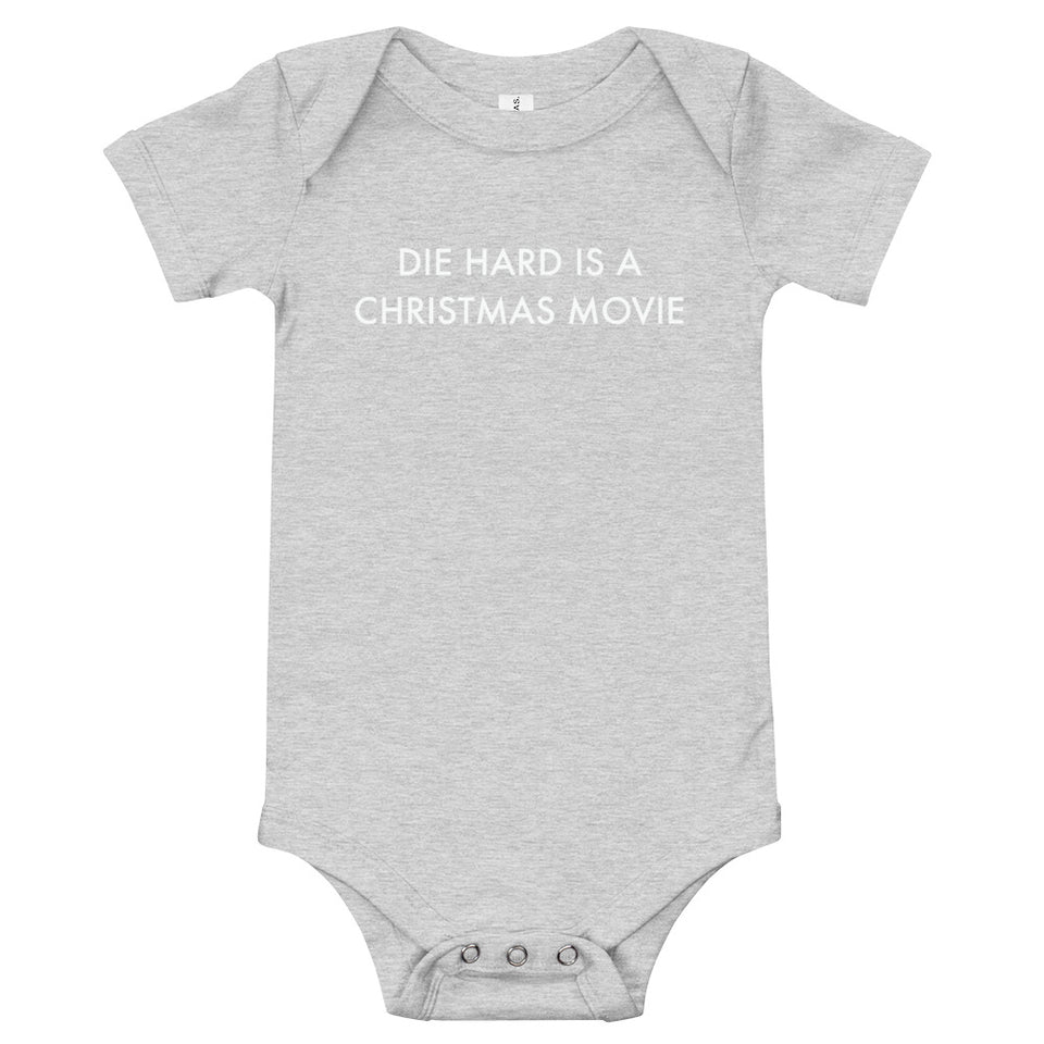 Die Hard Is A Christmas Movie Baby Onesie