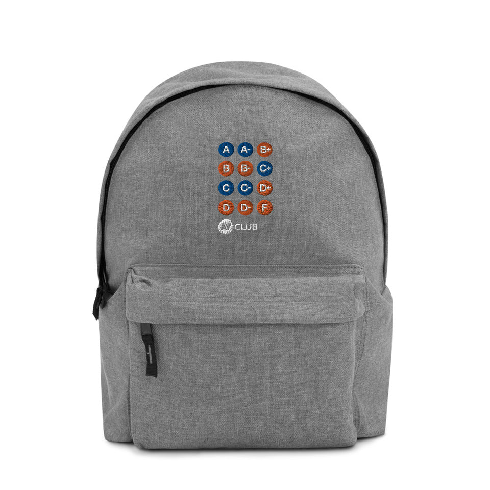 """Metro Line"" Review Grade Embroidered Backpack"