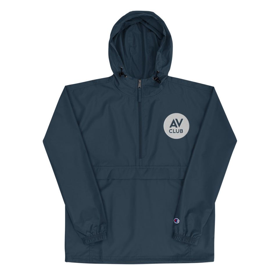 The A.V. Club Embroidered Champion Packable Jacket