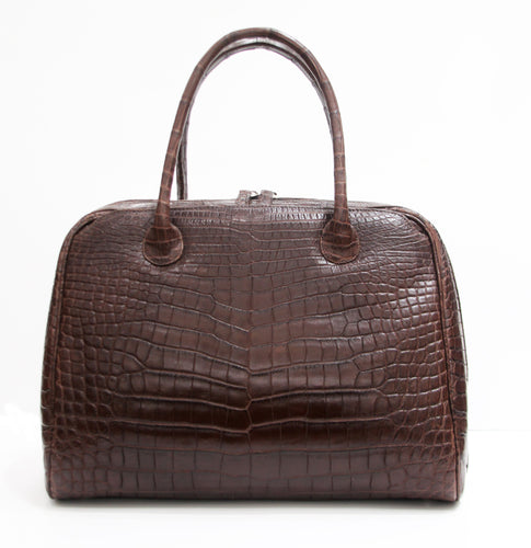 Baby Alligator Brown Handbag
