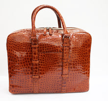 Load image into Gallery viewer, Crocodile Leather Briefcase