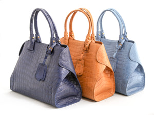 Alligator Asymmetrical Handbag