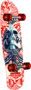 Tabla completa Powell Peralta Mini Skull and sword white 8""