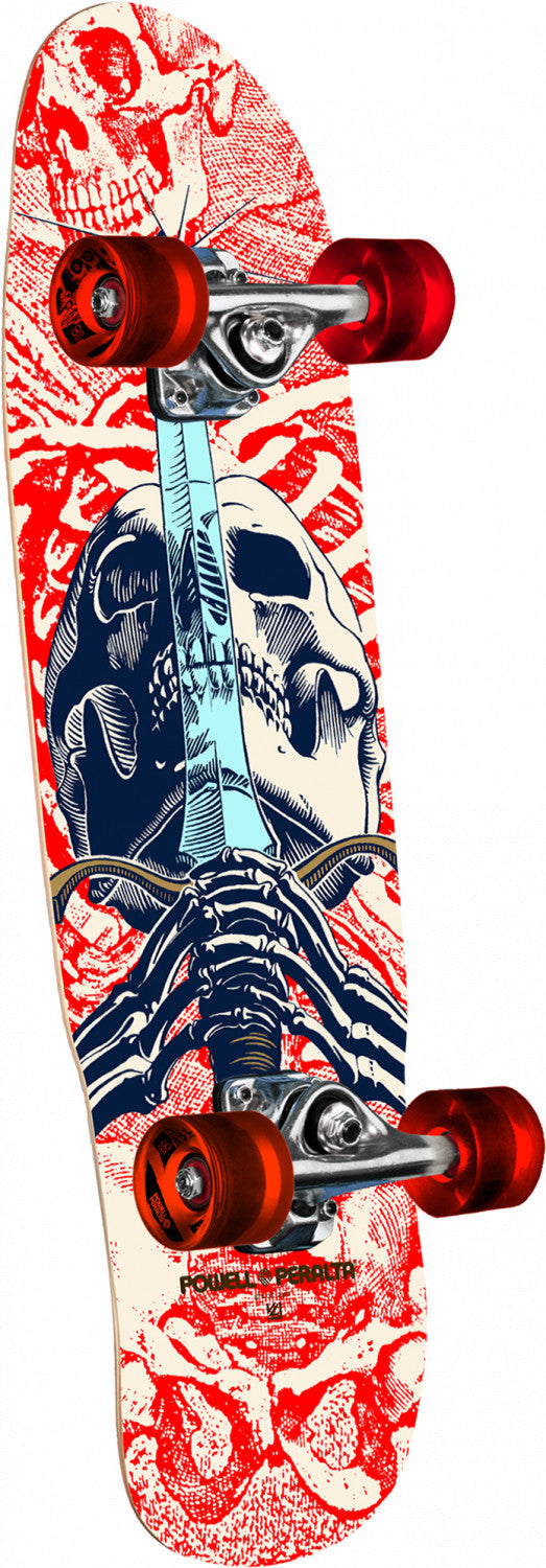 Tabla completa Powell Peralta Mini Skull and sword white 8