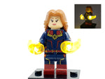 Captain Marvel Minifigure with LED Light Up - Avengers Endgame – (76127) - BlingBlingBrick