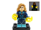 Captain Marvel  'STAR FORCE' GREEN KREE Minifigure with LED Light Up – (Lego 76127) - BlingBlingBrick