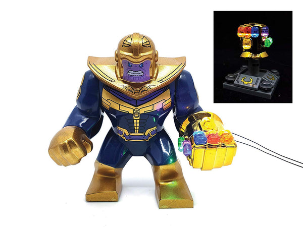 Thanos Minifigure with LED Infinity Gauntlet - (Lego 76107)