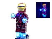 Iron Man Minifigure Mark 47 Armor with LED Light Up Thrusters  – (Lego 76108) - BlingBlingBrick