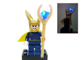 Loki Minifigure with LED Light Up Scepter - (Lego 6869) - BlingBlingBrick