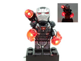 War Machine Minifigure Heavy Armor with LED Light Up Thrusters  – (Lego 76124)