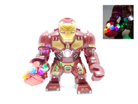 BlingBlingBrick – Big Size Iron Man Figure with LED Nano Gauntlet – Marvel - Lego size