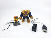 Thanos Minifigure with LED Infinity Gauntlet - (Lego 76107) - BlingBlingBrick