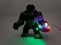 Hulk Minifigure with LED Light Up Nano gauntlet – Endgame infinity war Lego size - BlingBlingBrick