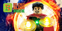 Dr. Strange Minifigure with LED Light Up Eye of Agamotto - (Lego 76108) - BlingBlingBrick