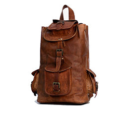 genuine Leather rucksack for travel