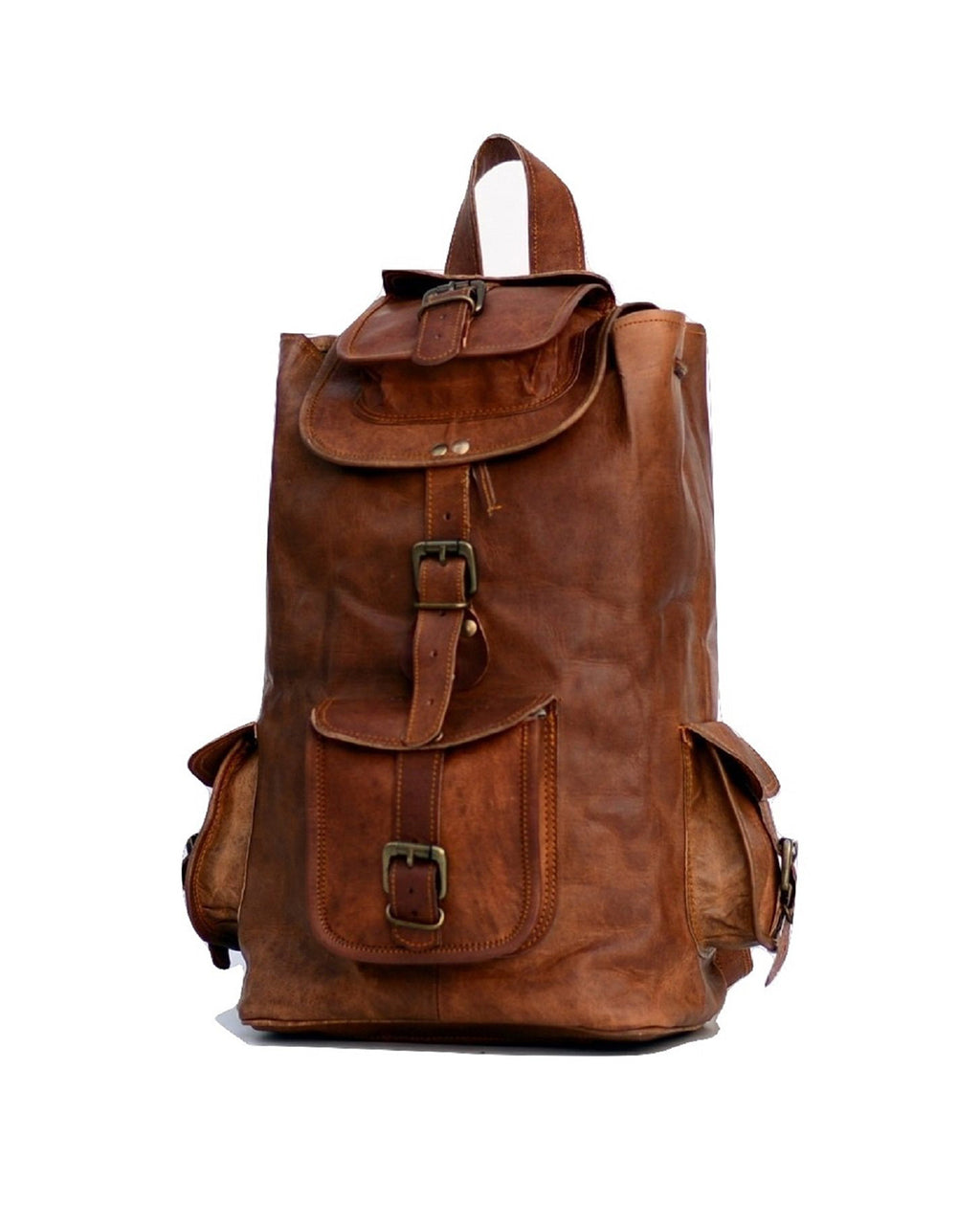 Genuine Leather Rucksack for Travel and Adventure - thar-artefacts