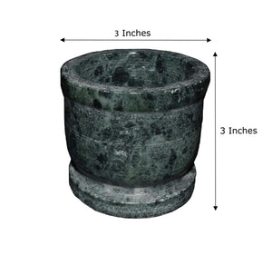 Authentic Handmade Indian Green Granite Marble Mortar & Pestle Set - thar-artefacts