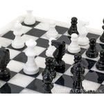 Large Handmade Pure White Marble Full Chess Game Set Marble Chess Sets for Adults - thar-artefacts