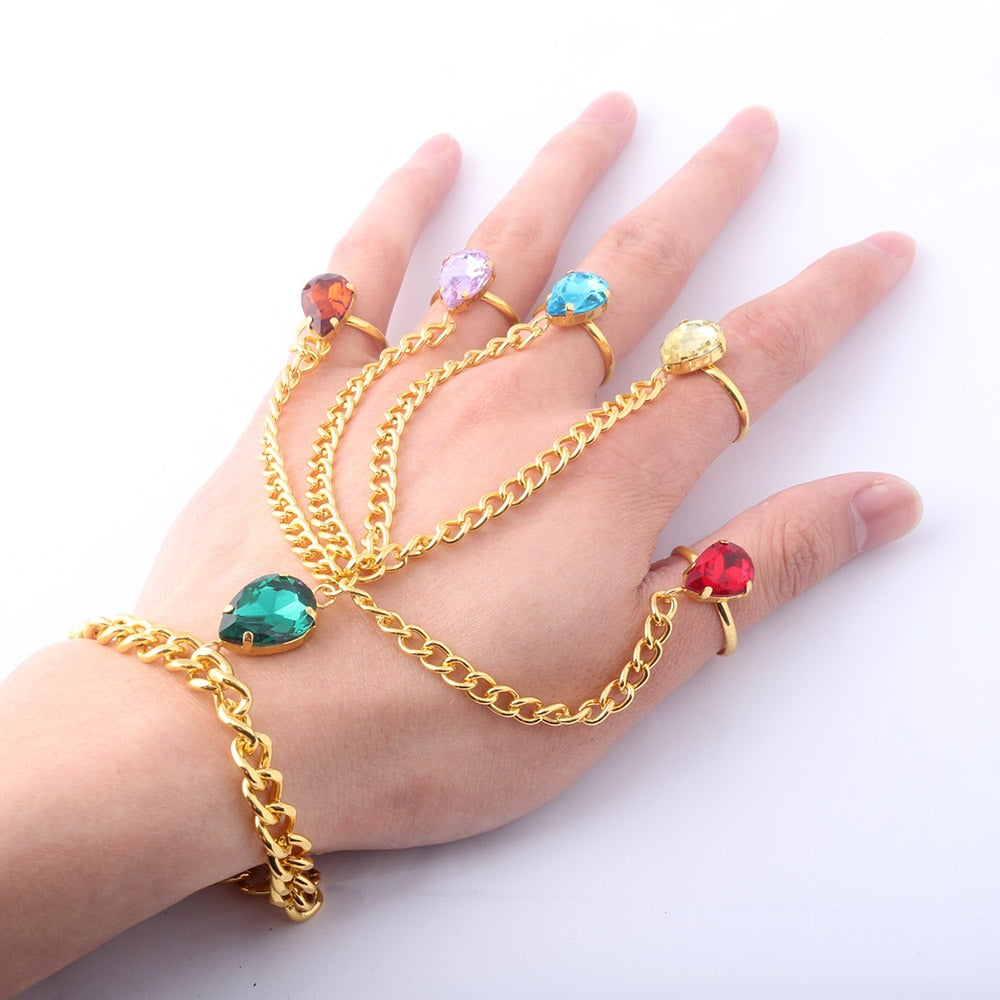Avengers Infinity Stones Infinity Gauntlet Hand Chain Resizable Bracelet Accessories Jewellery - thar-artefacts