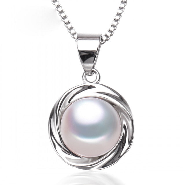 Natural Pearl Pendants 925 Sterling Silver Freshwater Pearl Pendant For Women - thar-artefacts