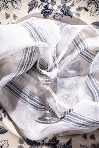 JAN blue striped Crystal and glass cloths