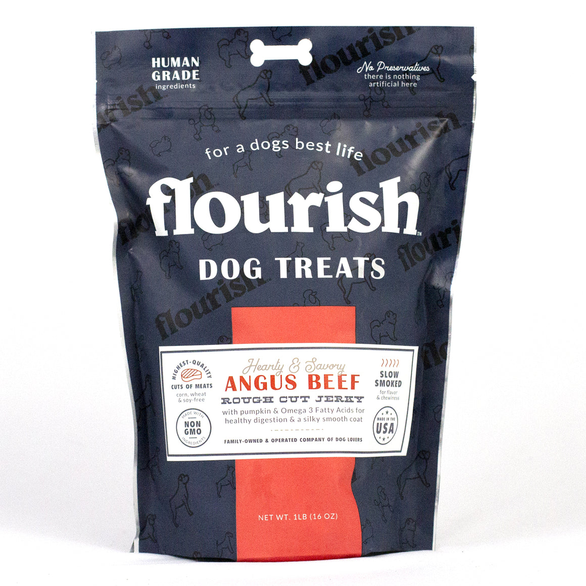 Angus Beef Rough Cut Jerky 1 lb