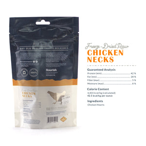 Freeze Dried Raw Chicken Necks - 5 Count