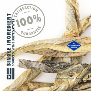 Freeze Dried Raw Cod Skins - 6 Count