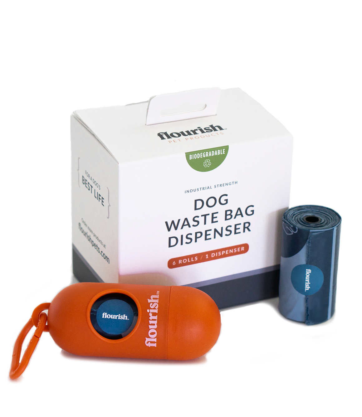 Dog Waste Bag Dispenser + 6 Rolls