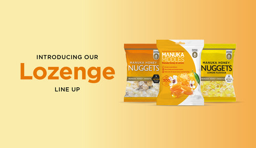 Manuka Honey Lozenges: introducing our lozenge line up