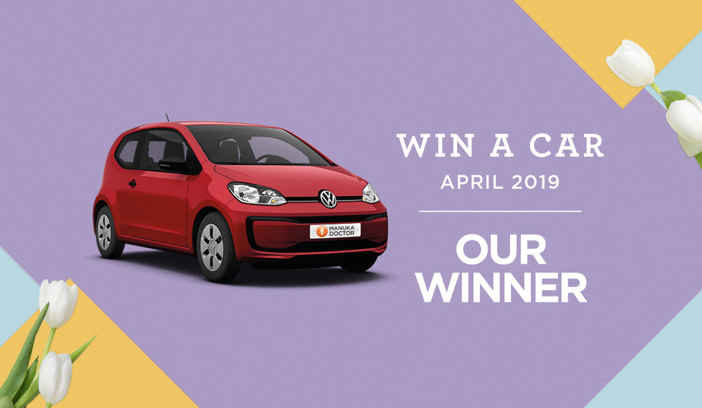Win a Car Easter 2019: Winner Announcement - Manuka Doctor