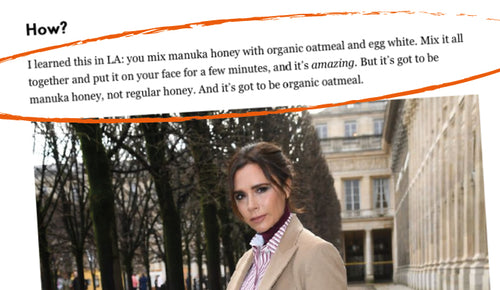 DIY Manuka Honey Face Mask Good Enough for Victoria Beckham!