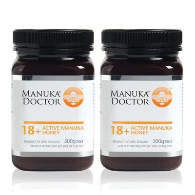18+ Active Manuka Honey 500g - Duo Pack