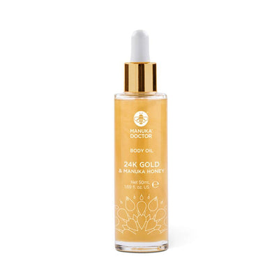 24K Gold & Manuka Honey Body Oil