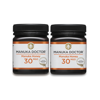 30 MGO Active Mānuka Honey 250g Duo Pack