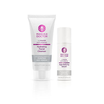 ApiNourish Hydrating Facial Cleanser & Age-Defying Serum Duo