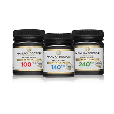 MGO Monofloral Mānuka Honey Trio Pack