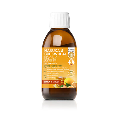 Manuka & Buckwheat Honey Syrup - Lemon & Ginger