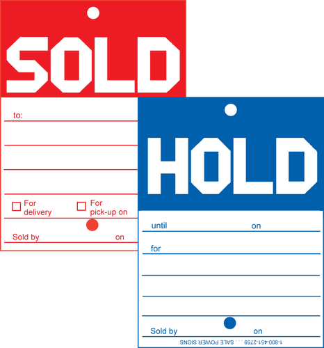 415/418B Hold Sold Tag