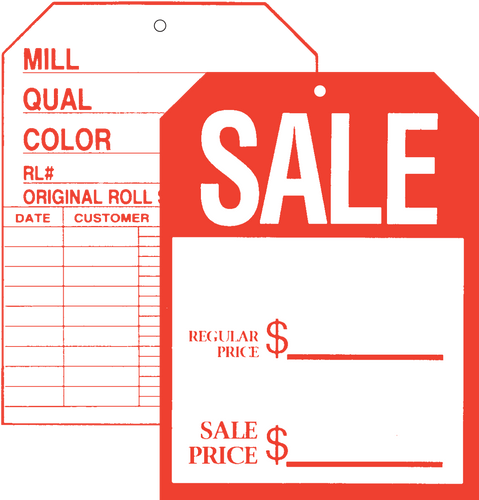 501 Front / 507 Back Sale Two Sided Tag
