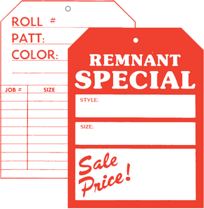 508 Front / 505 Back Remnant Special Two Sided Tag